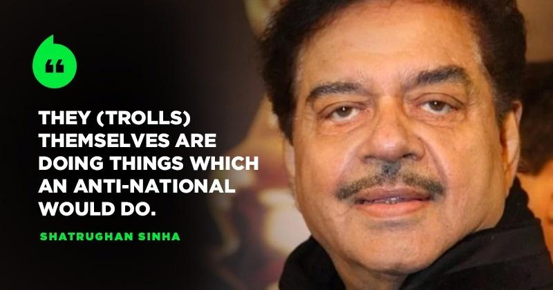 Shatrughan Sinha Takes A Dig At BJP Trolls, Says Don