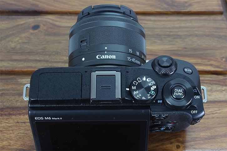 Canon M6 Mkii controls