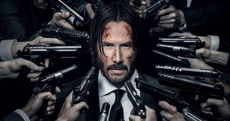 Keanu Reeves in John Wick 3.