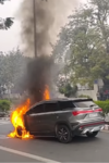 MG Hector, Car on fire, Delhi News