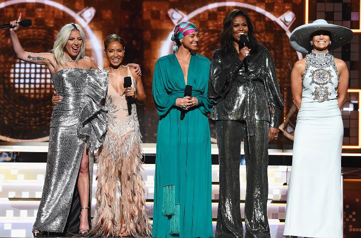 Michelle Obama won her first Grammy this year too.