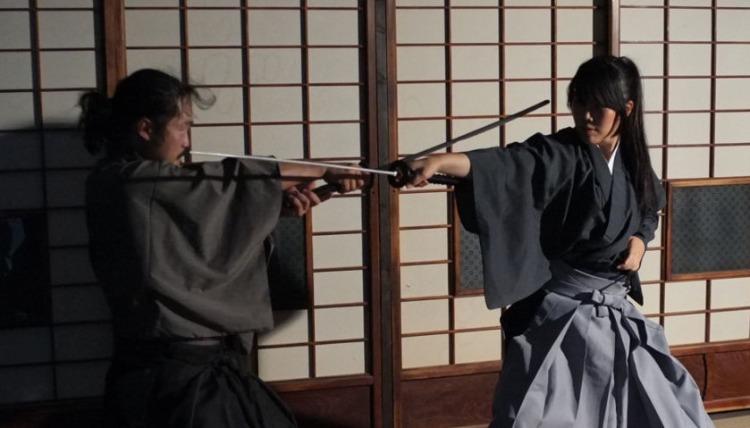 Japanese sword fight