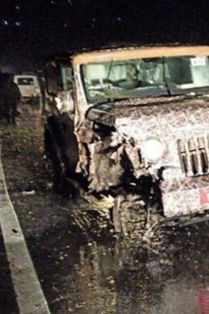 Mahindra Thar 2020, Thar Omni crash