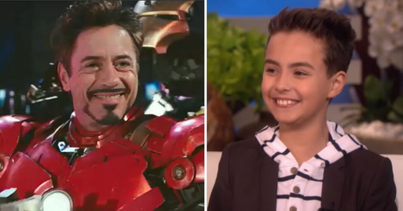Robert Downey Jr Meets Autistic Boy Who Started Speaking Again Because Of Iron Man Helmet!
