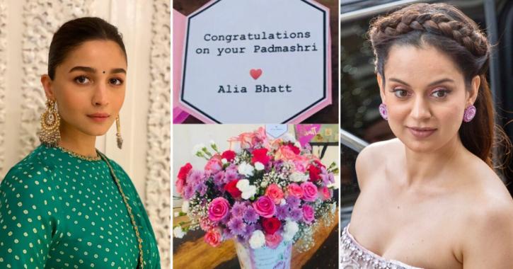 Alia Bhatt Wins Hearts As She Sends Flowers For Kangana Ranaut & Proves She Has No Hard Feelings Toward Her