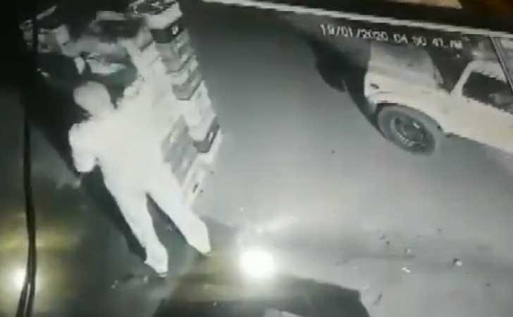 Uttar Pradesh Cop Caught On Camera Stealing Milk