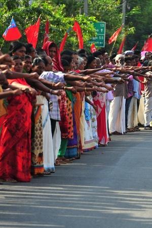 620km Long human Chain In Kerala