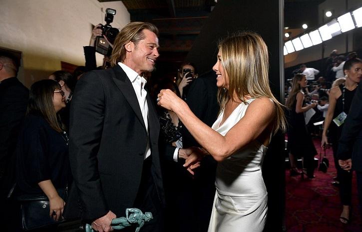 Brad Pitt and Jennifer Aniston at SAG Awards.