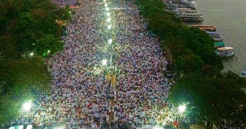 Nearly 2 Lakh People Come Together On The Streets Of Kerala To Protest CAA