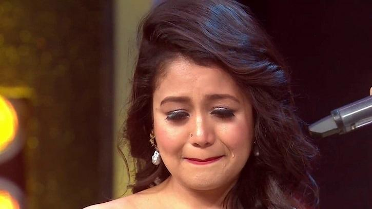 Neha Kakkar crying.