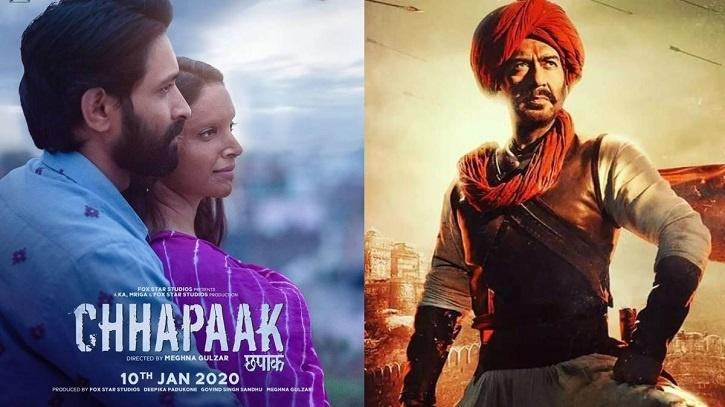 Maharashtra govt declares Tanhaji: The Unsung Warrior VS Chhapaak