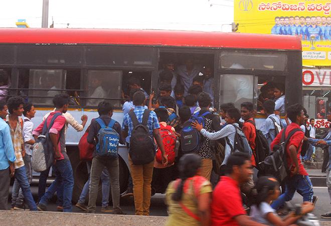 aboard bus