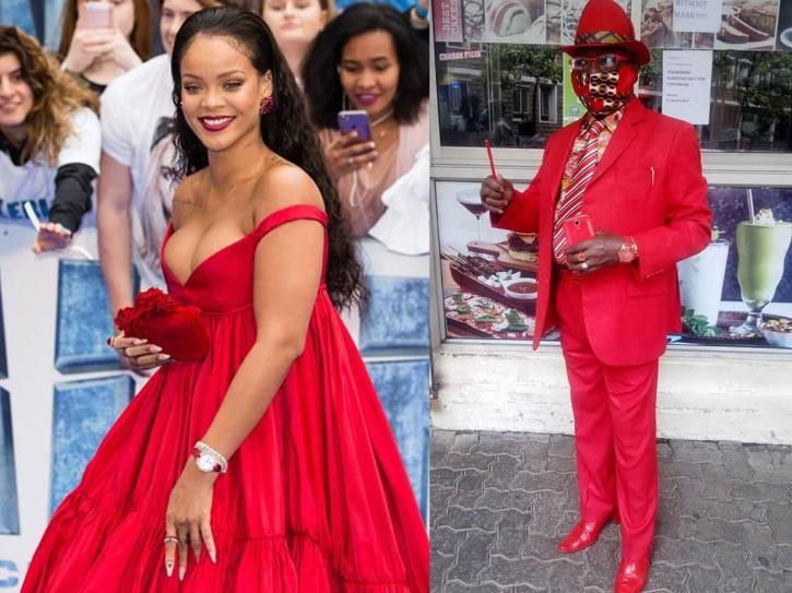 Singer Rihanna and James Maina