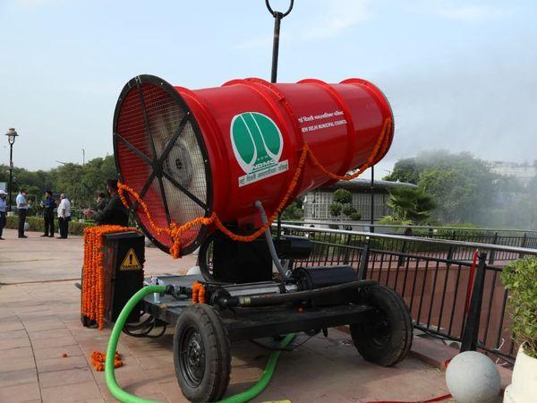 anti smog gun in delhi