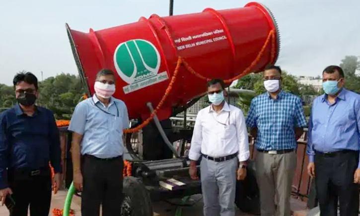 Anti Smog gun installed in Delhi