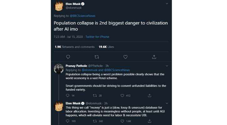 elon musk on population decline