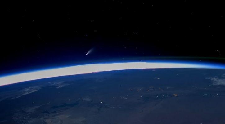 comet neowise video from space