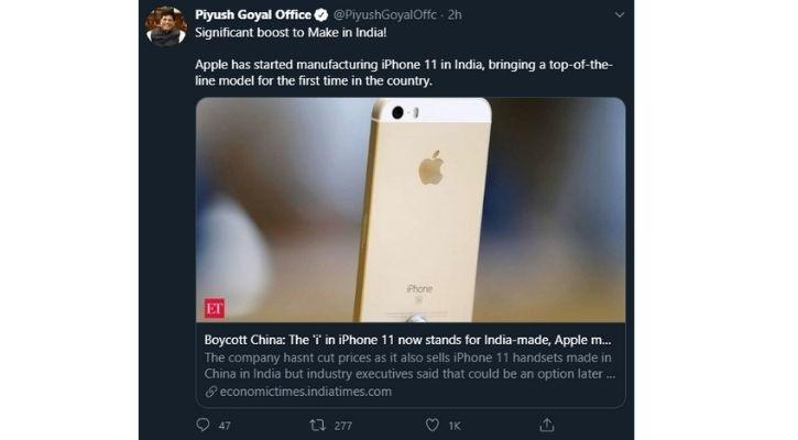 iphone 11 price drop after iphone 11 made in india announcement