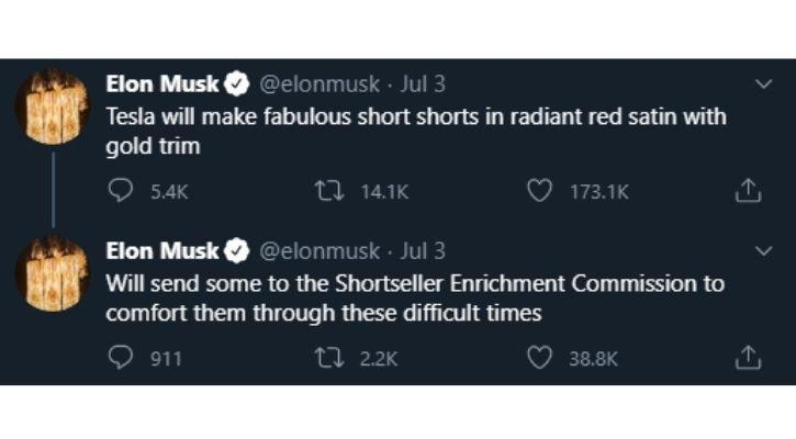 Tesla Shorts are here says Elon Musk