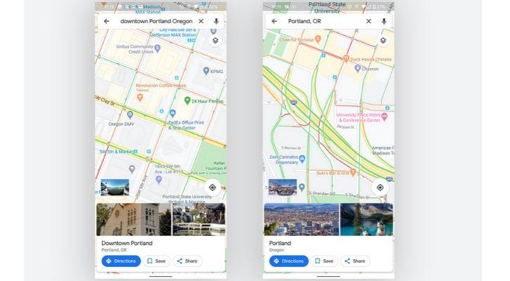 Google maps traffic signal