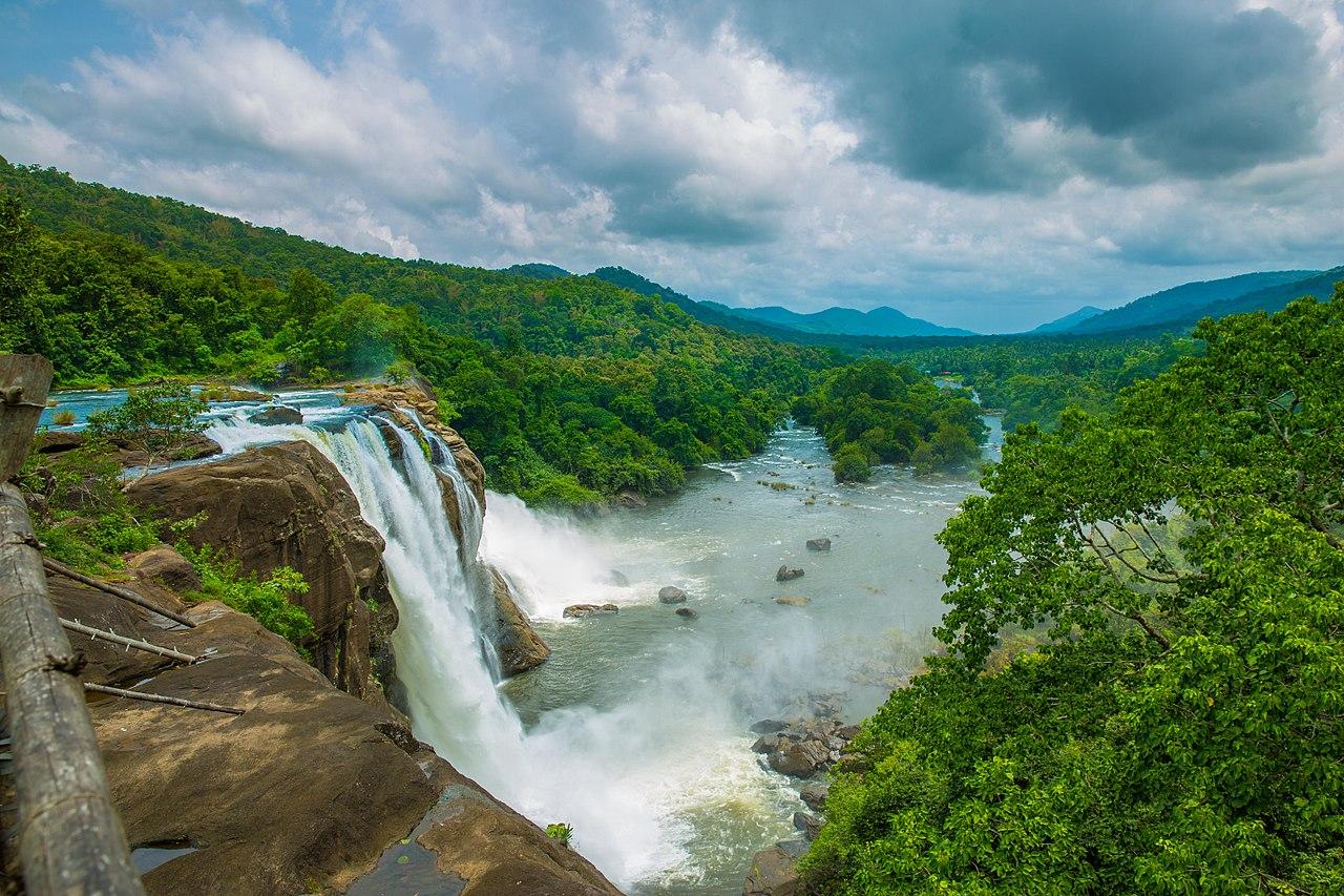 Baahubali: The Beginning: Athirapally Falls, Kerala