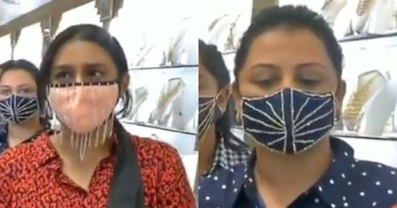 Jewellery Store Sells Diamond-Studded Face Masks