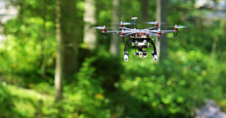 Drones used for aerial seeding