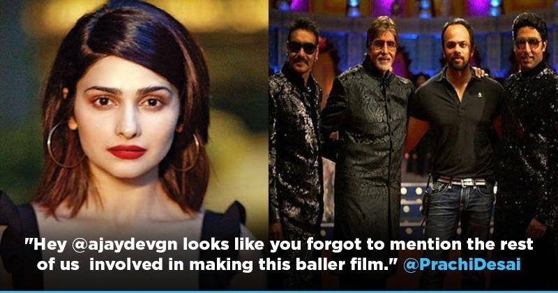 Prachi Desai Calls Out Ajay Devgn For Not Mentioning Her, Asin & Others In 'Bol Bachchan' Post