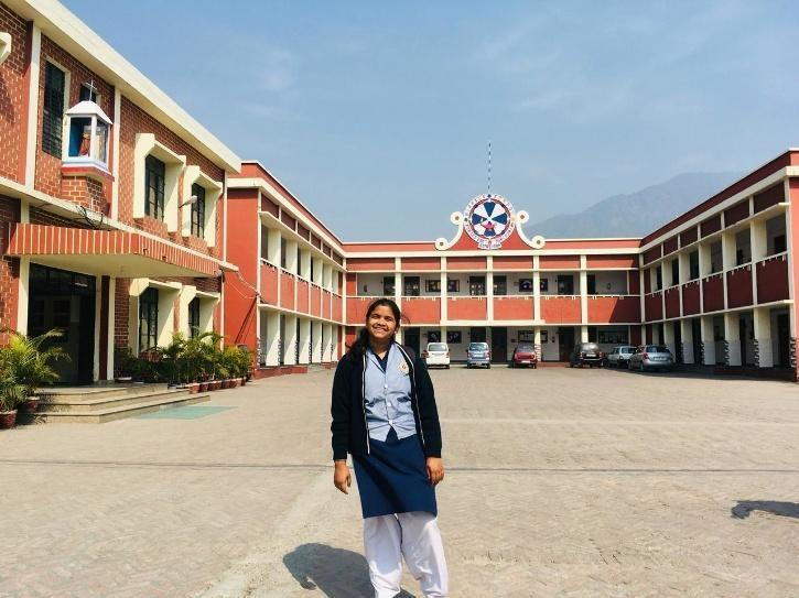 Anushka at her school