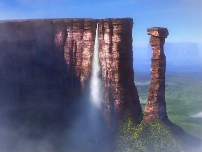 Paradise Falls, Up: Angel Falls in Venezuela