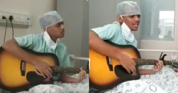 Rishabh Dutta singing song
