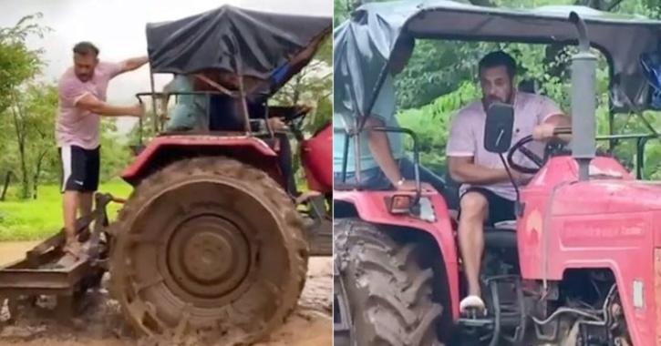 Salman Khan farming video.