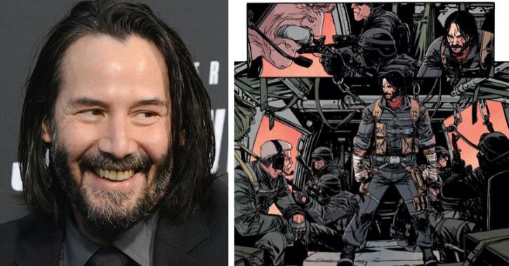 Keanu Reeves wrote a comic book called BRZRKR.