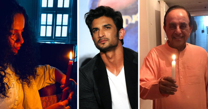 #Candle4SSR: Kangana, Ankita, Subramanian Swamy And Others Join Online Protest For Sushant