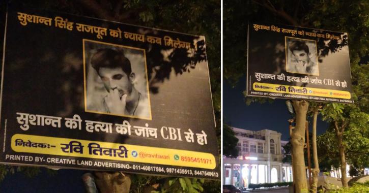 Fan Puts Hoardings On Delhi Streets, Demands CBI Inquiry In Sushant Singh Rajput