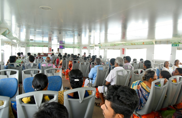 People inside the ferry