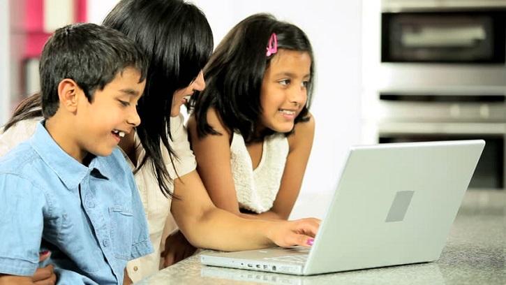 children addicted to online