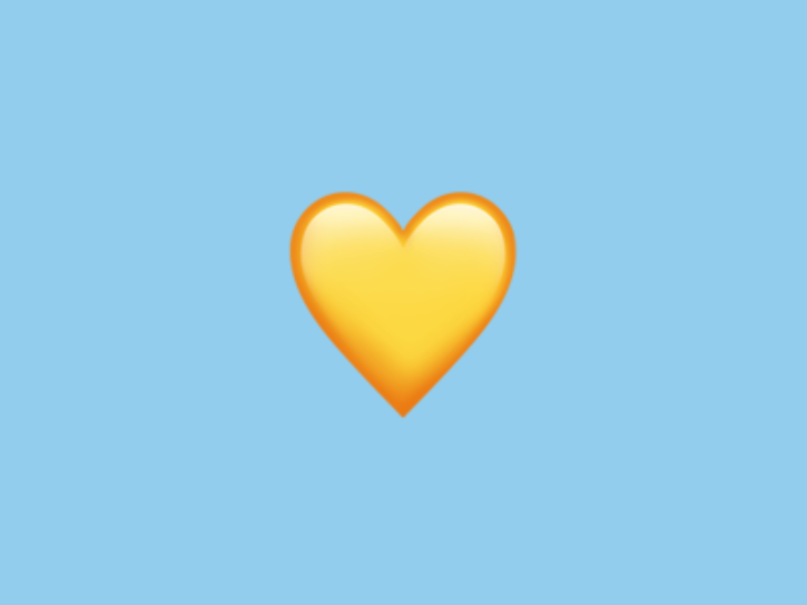What Does A Yellow Heart Emoji Means