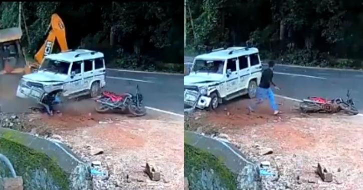 jcb and mahindra bolero accident
