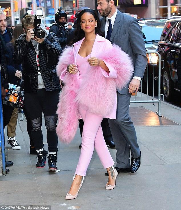 Singer Rihanna and James Maina Mwangi