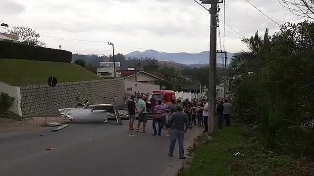 Plash crash on road