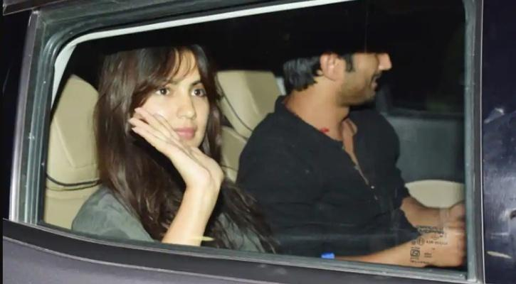 Sushant Singh Rajput  and Rhea Chakraborty spotted by paps in a car together.