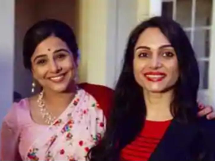 Vidya Balan with Shakuntala Devi's daughter.