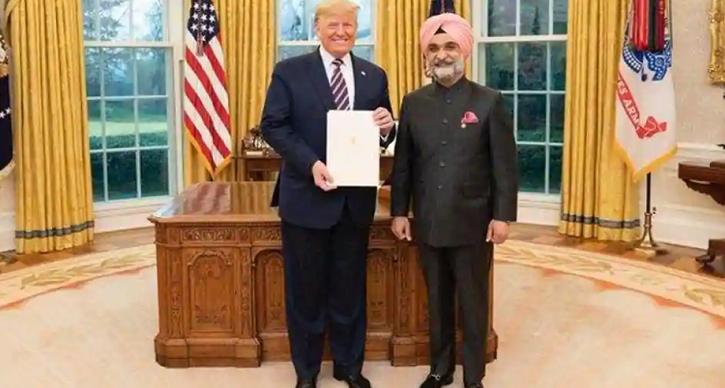 Trump with Taranjit singh sandhu