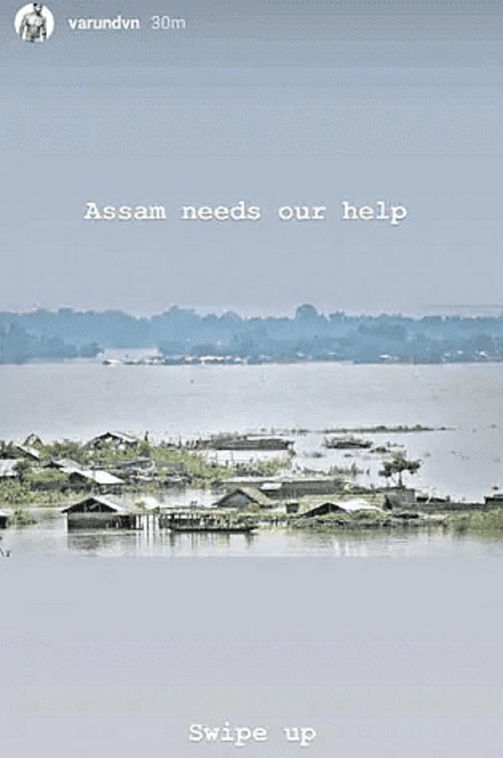 Varun Dhawan Assam floods