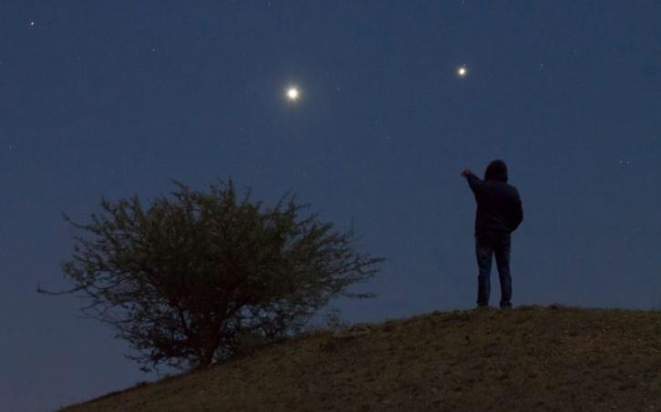 Jupiter in night sky
