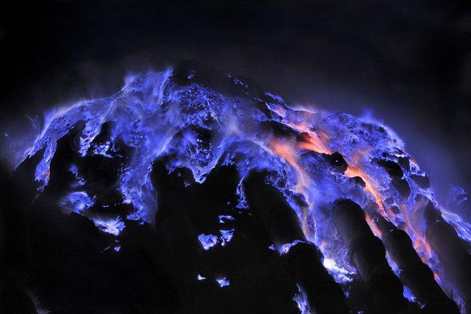 Kawah Ijen volcano in Indonesia