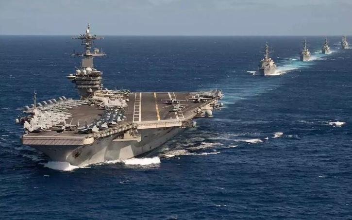 US Navy is showing a lot of force