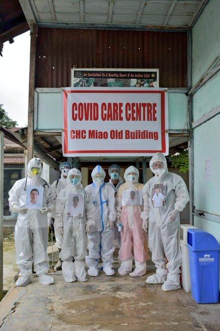 Arunachal Pradesh doctors paste photos on their PPE suits
