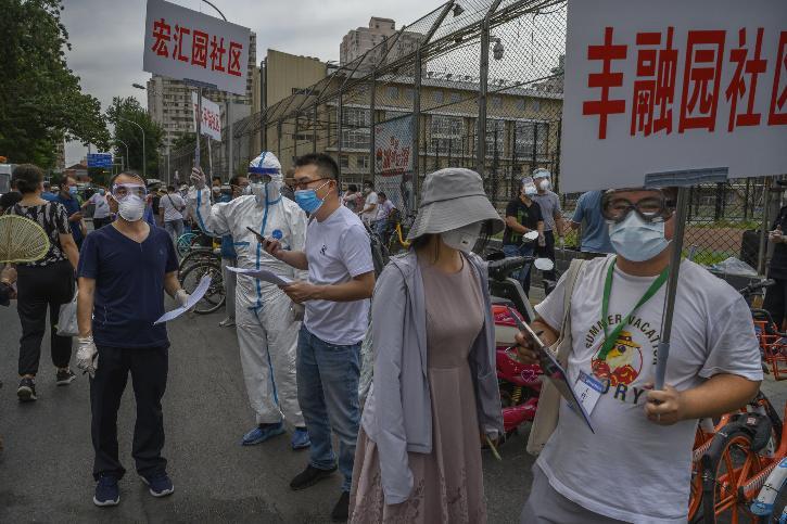 New coronavirus cases in Beijing